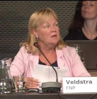 Lyda Veldstra van de FNP